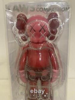 100% Authentic NEW KAWS Companion Open Edition Vinyl Figure Blush Red Sealed