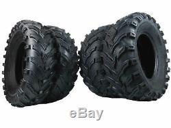 2003-2013 Kaw. Brute Force 750 Massfx Ms 25 Atv Tires (set 4) 25x8-12 25x10-12