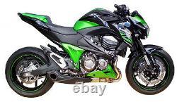 2013-16 Kawasaki Z800 Slip-On Muffler Exhaust with dB Killer CS Racing (+1hp)