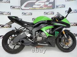 2013-18 Kawasaki ZX-6R Ninja 636 CS Racing Slip-on Exhaust Muffler Video Below