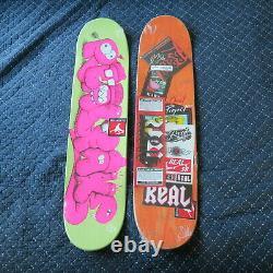 2 X RARE REAL KAWS SKATEBOARD DECK Original Fake limted 500 Supreme print