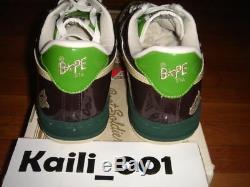 A BATHING APE BAPESTA 10.5 Camo Chompers Kaws KANYE OG B
