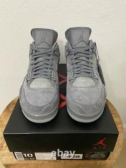 Air Jordan 4 IV Retro KAWS Cool Grey 930155-003 100% Authentic Brand NEW SZ 10
