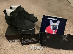 Air Jordan 4- KAWS Retro Black 13 (Men's) DS With Bag And Card