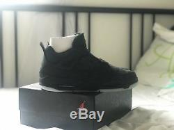 Air Jordan Retro 4 IV KAWS Black Size 11 100% AUTHENTIC