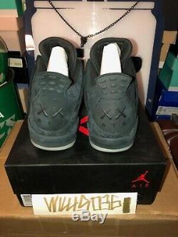 Air Jordan Retro 4 Kaws Black/black-clear- Glow Size 13 Deadstock