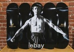 BAIT x Bruce Lee Skateboard Set of 5 Black Brand New Limited 100 Supreme Kaws