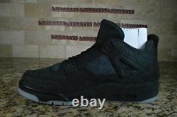 BRAND NEW Nike Air Jordan 4 IV Retro Kaws Black Size 12 930155-001