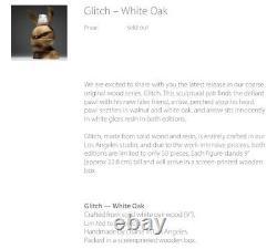 Coarse Glitch White Oak Limited Edition Of 50 Sealed Never Opened Kaws Bearbrick