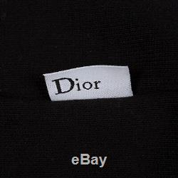 DIOR x KAWS 1050$ Sweatshirt In Black Cotton With Jeweled Bee Embroidery
