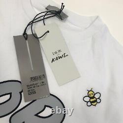 DIOR x KAWS WHITE BEE EMBROIDERED T-SHIRT SIZE XXXS