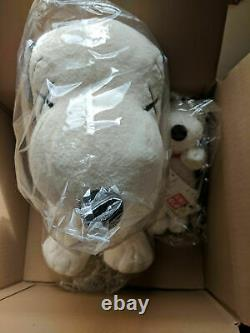 DS New KAWS x PEANUTS UNIQLO TOY PLUSH SET SNOOPY SET OF 2 LARGE & SMALL SNOOPY
