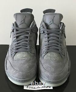 DS Nike x KAWS Air Jordan IV 4 sz10.5 Cool Grey retro 1 iii xi vi 930155 003
