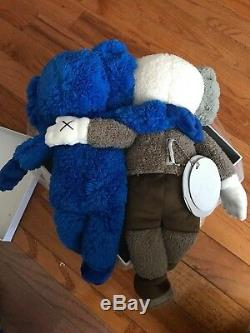 KAWS BFF Companion SEEING WATCHING Blue Grey Plush Toy 100% Authentic 2018