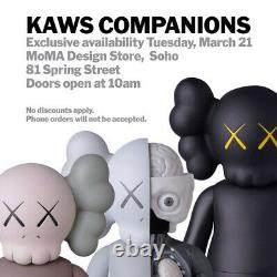 KAWS Companion Figure Open Edition 2016 Directly from MoMA NY Brand New Sealed