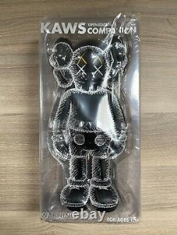 KAWS Companion Open Edition Vinyl Figure Black YSP Release