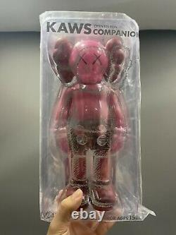 KAWS Companion Open Edition Vinyl Figure Blush Red Sealed NEW & AUTHENTIC