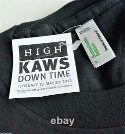 KAWS'Down Time (Keep Moving)' Vintage Exhibition T-Shirt S Silkscreen RARE NEW