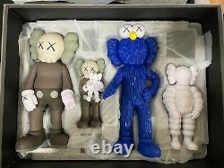 KAWS FAMILY Full Set BROWN / BLUE / WHITE and BLACK FAMILY IN HAND