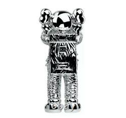 KAWS HOLIDAY SPACE SILVER Figure 100% Authentic SHIPS TODAY