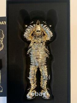 KAWS Holiday Space Chrome GOLD Figure Rare Limited Drop