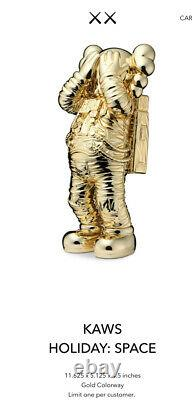 KAWS Holiday Space Chrome Gold 11.5 Figure RARE Limited NEW IN BOX Ships Now