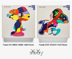 KAWS NGV jigsaw puzzle set STAY STEADY & NO ONES HOME 2019