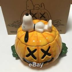 KAWS Original Fake X Peanuts Snoopy Ceramic Cookie Jar 2012 Medicom Ltd to 500