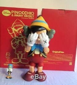 KAWS Pinocchio & Jiminy Cricket Set Oversize Standing Action Figure