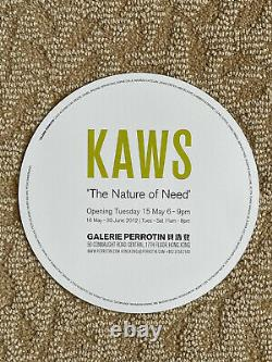 KAWS The Nature of Need Perrotin Show Flyer (Poster/Print)
