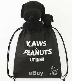 KAWS UNIQLO Plush S or M size or Set of 2 & Special Bag/ PEANUTS/ Black /SNOOPY/