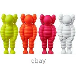 KAWS WHAT PARTY VINYL FIGURES SET 4 COLORS Yellow, Orange, Pink, White Confirmed