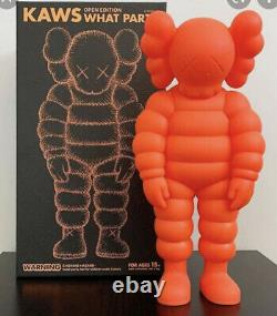 KAWS What Party Orange Vinyl Figurine Sold outBrand New In BoxAuthentic