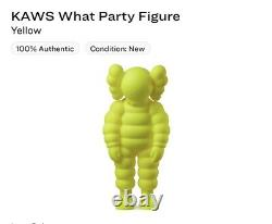 KAWS What Party Vinyl Figure YELLOW (Brand New in Sealed Box) In Hand
