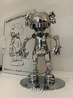 KAWS X Hajime Sorayama No Future Companion Silver Chrome 100% Authentic, Medicom