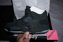 KAWS x Air Jordan 4 Retro Black Authentic. Lottery confirmed size 10.5 Nike Rare