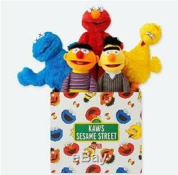 KAWS x UNIQLO x Sesame Street Plush Toys Complete Boxset 2018 Brand New