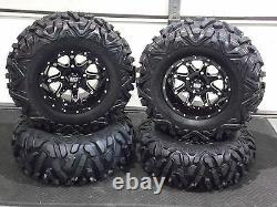 Kaw Brute Force 750 25 Quadking Atv Tire & Sti Hd4 Wheel Kit Irs1ca Bigghorn