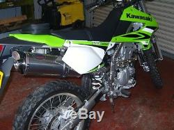 Kawasaki KLX250S 2009' -2014' Stainless Oval Road Legal Motorbike Exhaust Can