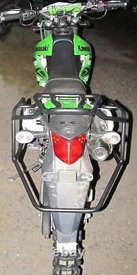 Kawasaki KLX 250 Complete rack system, luggage rack system Black Mmoto