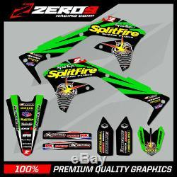 Kawasaki Kx Kxf 125 250 450 Motocross Graphics Split Kit Splitfire Green