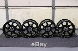 Kawasaki Teryx 14 Cobra Blk Atv Aluminum Wheels (set 4) Life Warranty Kaw11k