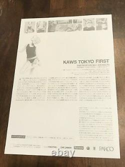 Kaws OriginalFake Official 2001 Tokyo First Parco Show Flyer Card Poster
