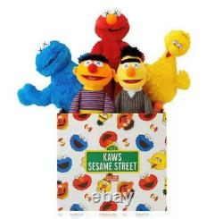 Kaws Sesame Street UNIQLO Plush Complete Doll Toy Set 5 items WithBox