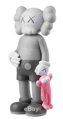 Kaws Share Pink Grey Vinyl Figure In Hand 100% Authentic