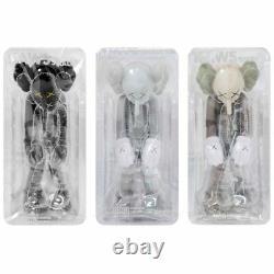 Kaws Small Lie Set Grey Flayed Bearbrick Medicom Vinyl Toy Blush