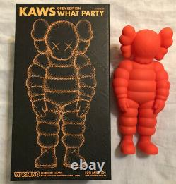 Kaws What Party Figure Orange Brand New In Hand! Ready To Ship Day Of Purchase