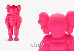 Kaws What Party Pink CHUM Vinyl Figure 2020 Sold Out In Hand GENUINE