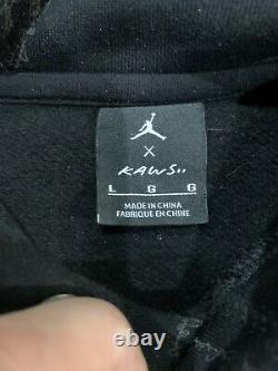 Kaws X Air Jordan 3m Pullover Hoodie Size Large