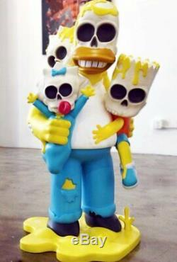 Matt Gondek Simpsons Nuclear Family 4ft Color Vinyl Sculpture LTD 100 kaws New